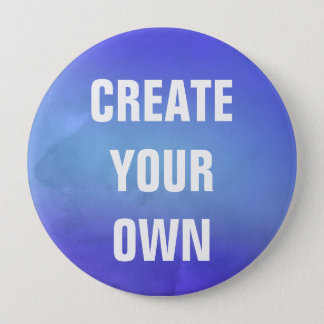 Create Your Own Blue Watercolor Painting 10 Cm Round Badge