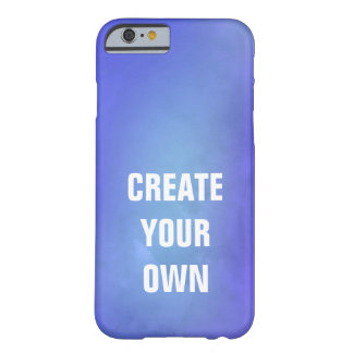 Create Your Own Blue Watercolor Painting Barely There iPhone 6 Case