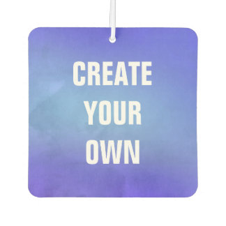 Create Your Own Blue Watercolor Painting Car Air Freshener