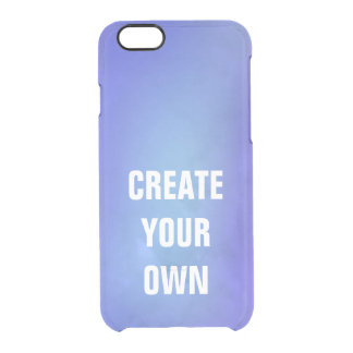 Create Your Own Blue Watercolor Painting Clear iPhone 6/6S Case