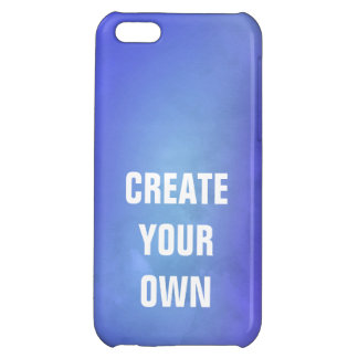 Create Your Own Blue Watercolor Painting Cover For iPhone 5C