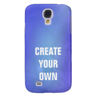 Create Your Own Blue Watercolor Painting Galaxy S4 Cases