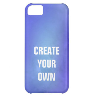 Create Your Own Blue Watercolor Painting iPhone 5C Case