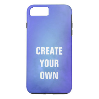 Create Your Own Blue Watercolor Painting iPhone 8 Plus/7 Plus Case