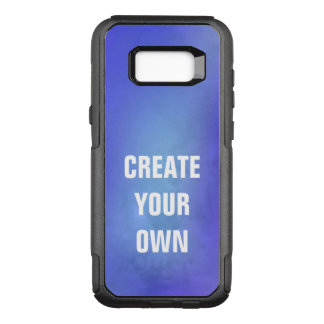 Create Your Own Blue Watercolor Painting OtterBox Commuter Samsung Galaxy S8+ Case