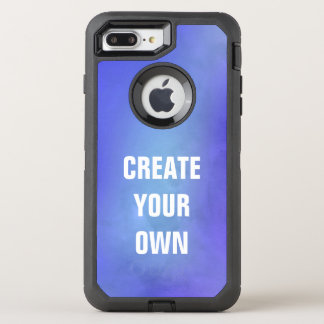 Create Your Own Blue Watercolor Painting OtterBox Defender iPhone 8 Plus/7 Plus Case