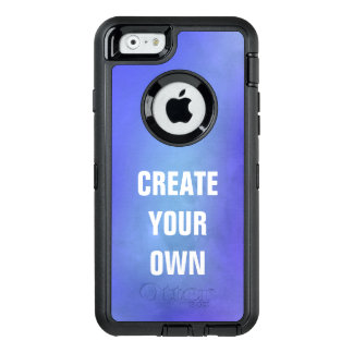 Create Your Own Blue Watercolor Painting OtterBox Defender iPhone Case