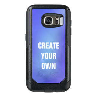 Create Your Own Blue Watercolor Painting OtterBox Samsung Galaxy S7 Case