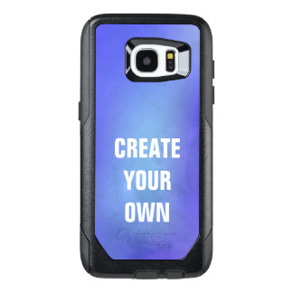 Create Your Own Blue Watercolor Painting OtterBox Samsung Galaxy S7 Edge Case
