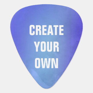 Create Your Own Blue Watercolor Painting Plectrum