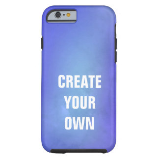 Create Your Own Blue Watercolor Painting Tough iPhone 6 Case