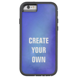 Create Your Own Blue Watercolor Painting Tough Xtreme iPhone 6 Case
