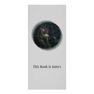 Create Your Own Bookmark With Background of Stars Rack Card