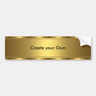 Create your own Bumper Sticker Gold trim