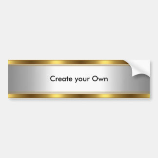 Create your own Bumper Sticker White & Gold