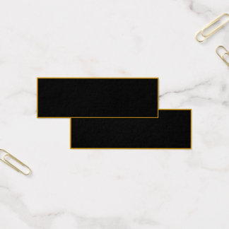 CREATE YOUR OWN BUSINESS CARDS: Elegant Black Gold Mini Business Card
