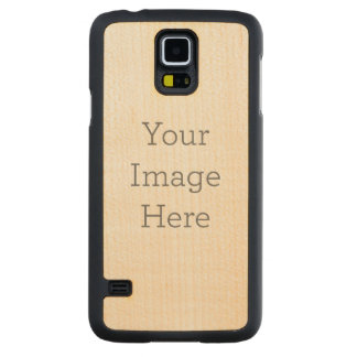 Create Your Own Carved® Maple Galaxy S5 Slim Case