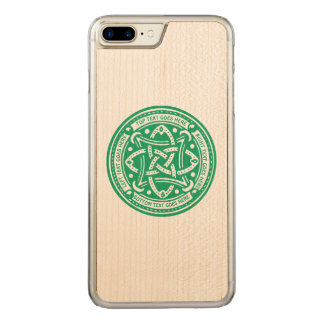 Create Your Own Celtic Knot Shamrock Green Irish Carved iPhone 8 Plus/7 Plus Case
