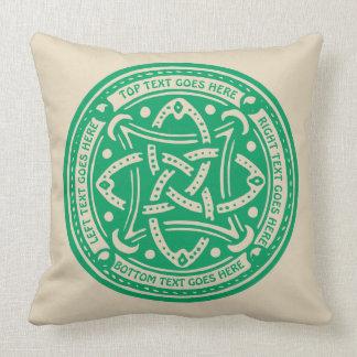 Create Your Own Celtic Knot Shamrock Green Irish Cushion