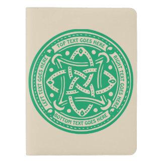 Create Your Own Celtic Knot Shamrock Green Irish Extra Large Moleskine Notebook