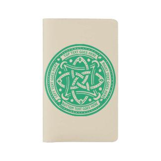 Create Your Own Celtic Knot Shamrock Green Irish Large Moleskine Notebook