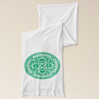 Create Your Own Celtic Knot Shamrock Green Irish Scarf