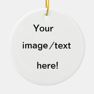 Create your own christmas ornament! round ceramic decoration