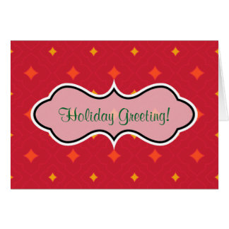 Create Your Own Christmas Patterned Holiday Card
