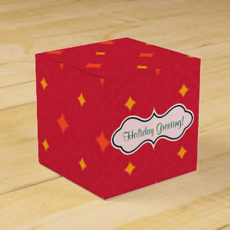 Create Your Own Christmas Patterned Holiday Favour Box