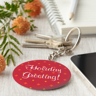 Create Your Own Christmas Patterned Holiday Key Ring