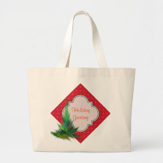 Create Your Own Christmas Patterned Holiday Large Tote Bag