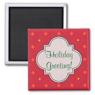Create Your Own Christmas Patterned Holiday Magnet