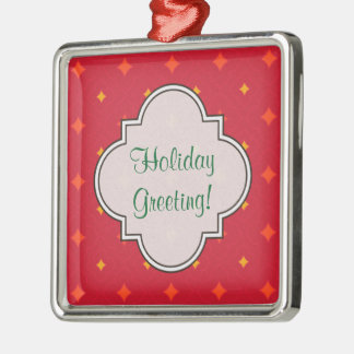 Create Your Own Christmas Patterned Holiday Metal Ornament