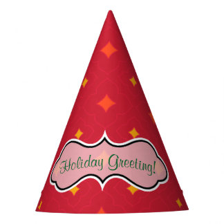Create Your Own Christmas Patterned Holiday Party Hat