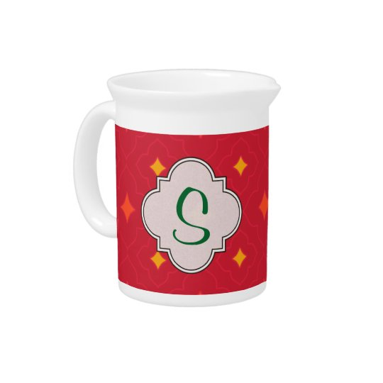 Create Your Own Christmas Patterned Holiday Pitcher