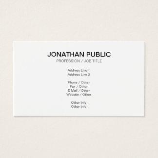 Create Your Own Classy Plain Modern Sleek Design Business Card