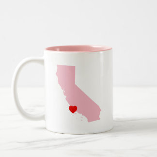 Create Your Own Color California Wedding Two-Tone Coffee Mug