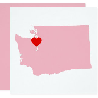 Create Your Own Color Washington Wedding Card