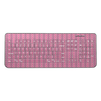 Create Your Own Colorful  Girly Pink Polka Dot Pat Wireless Keyboard