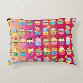 Create Your Own Cupcake Monogram Delicious Treats Decorative Cushion