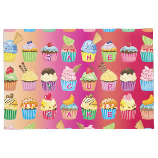 Create Your Own Cupcake Monogram Delicious Treats Doormat