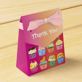 Create Your Own Cupcake Monogram Delicious Treats Favour Box