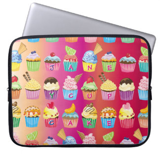 Create Your Own Cupcake Monogram Delicious Treats Laptop Sleeve