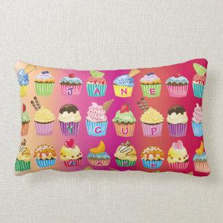 Create Your Own Cupcake Monogram Delicious Treats Lumbar Cushion