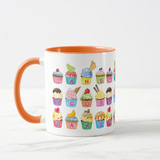 Create Your Own Cupcake Monogram Delicious Treats Mug