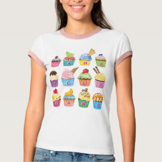Create Your Own Cupcake Monogram Delicious Treats T-Shirt