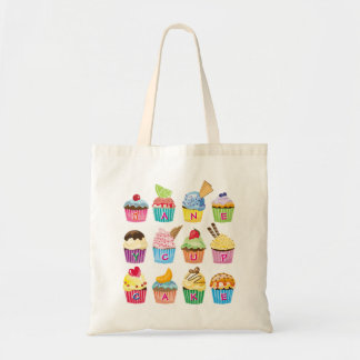 Create Your Own Cupcake Monogram Delicious Treats Tote Bag