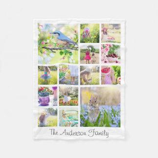Create Your Own Custom 14 Photo Collage Instagram Fleece Blanket