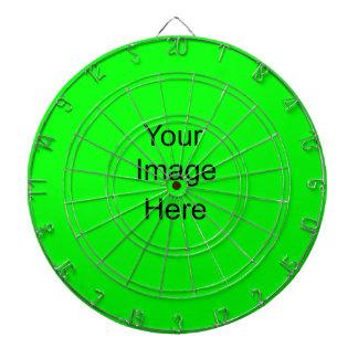 Create your own Custom Dart Board lime green 00ff0