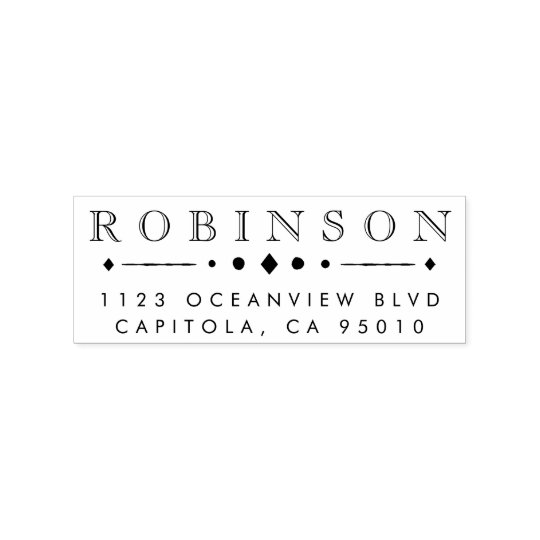 Design Your Own Rubber Stamp: Create Your Own Custom Family Name Return Address Rubber